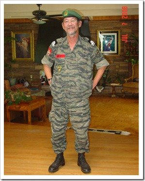 CXH in dress uniform at home