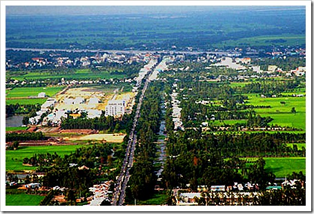 Chau Doc from above
