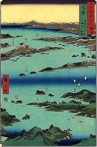 View of Matshusima, Mutsu province hiroshige