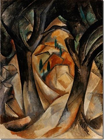 Braque-Arbres a l'Estaque 1908