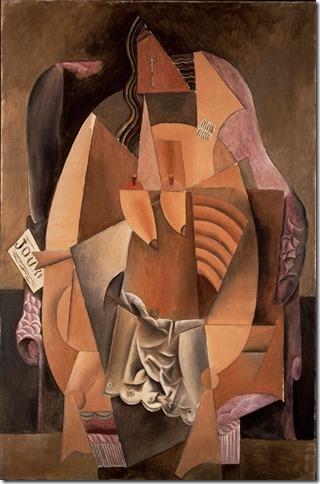 Picasso-Femme assise dans un fauteuil (Eva) 1913