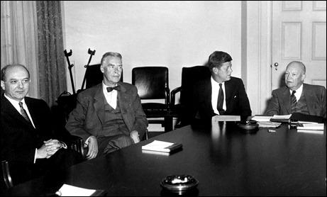 Dean Rusk Christian Herter JFK and Eisenhower