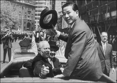 Diem in  1957 Parade
