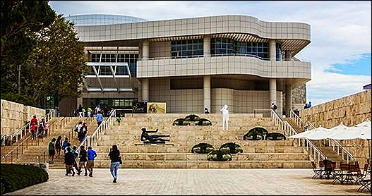 Front entrance of Getty