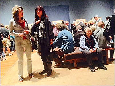 Viewers at Getty
