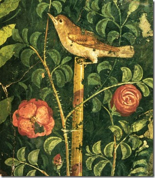 Nightingale with roses