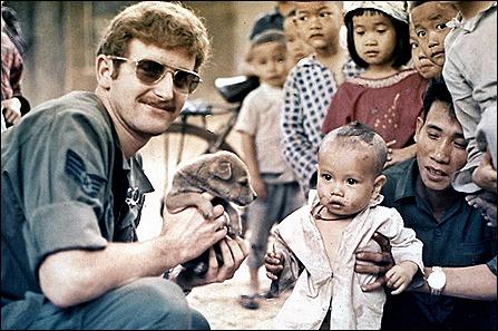 Steve at orphanage