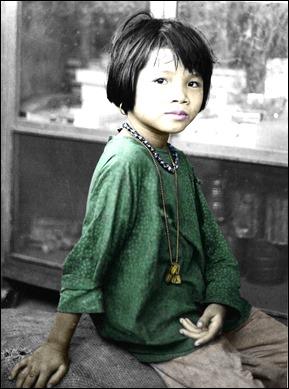 Viet girl in village outside L.Z. Baldy. 1968.