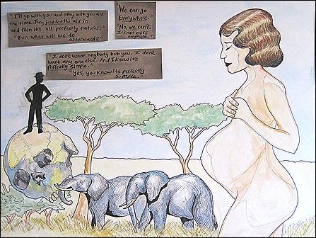 hill like white elephants illustration