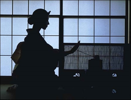 tea ceremony silhouette