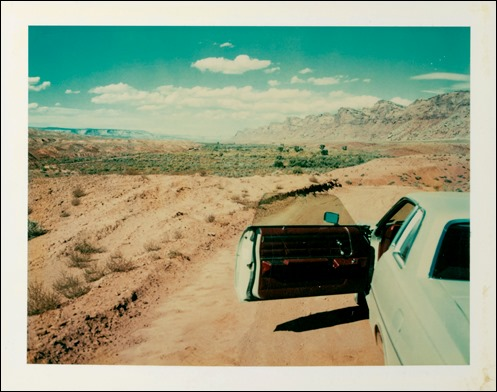 wim wenders polaroid - valley of the gods - 1977
