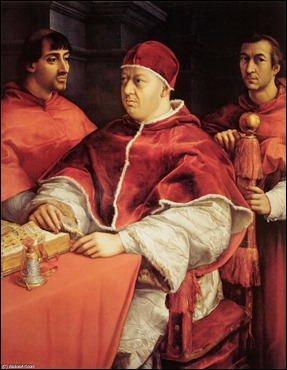 Raphael-Portrait-of-Pope-Leo-X-and-Two-Cardinals