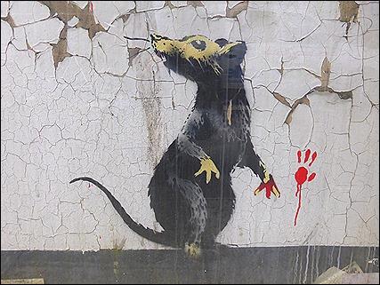 Banksy Rat - Clipstone Street, Westminster - UK