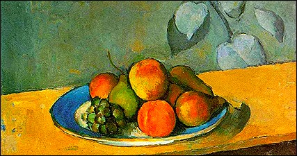 Cezanne fruits painting