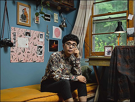 Ocean Vuong at home in North Hampton, Mass.