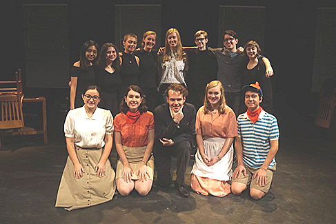 Vassar cast of The Moon is Red