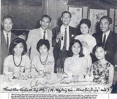 Thanh Nam at his wedding with Tuy Hong