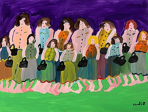 Woodie Long - 13 women  with 13 purses