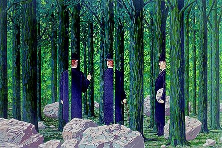 Rene Magritte - Les enfants trouvés - lithograph 1968