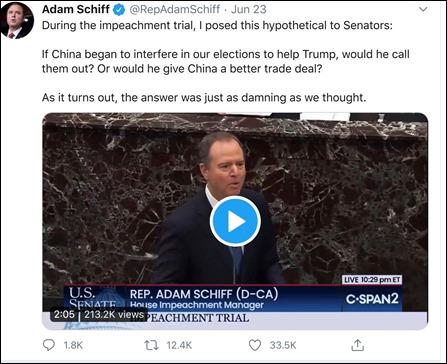 Adam Schiff video image