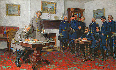 Lee surrenders painting by Tom Lovell