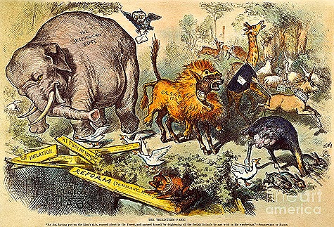 Thomas Nast Donkey and Elephant