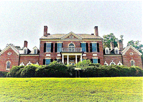 Woodlawn Mansion with film grain filter