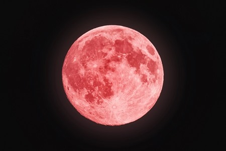 Red full moon in red color also called bloodmoon; Shutterstock ID 221556037; PO: true
