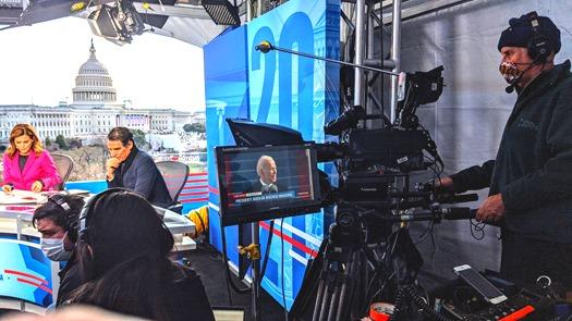 Mark Thalman - Telemundo set - Biden Inauguration 2021