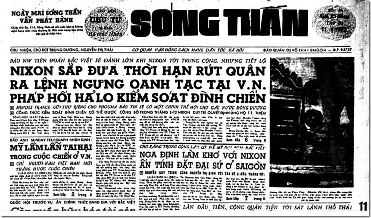 DA MÀU_Trang trước SÓNG THẦn Thứ Ba 11 tháng 01, 1972