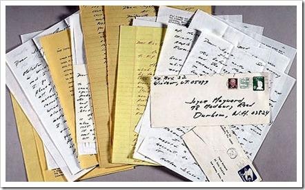 JDSallr Joyce Maynard letters