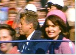 JFK and Jackie in motorcade