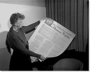 roosevelt holding universal declaration