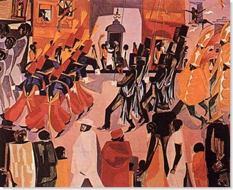 parade by jacob lawrence