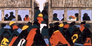 travel image by jacob lawrence