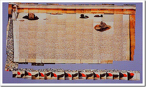 Hockney walking in Zen Garden at Ryoanji Temple Kyoto Feb 21 1983